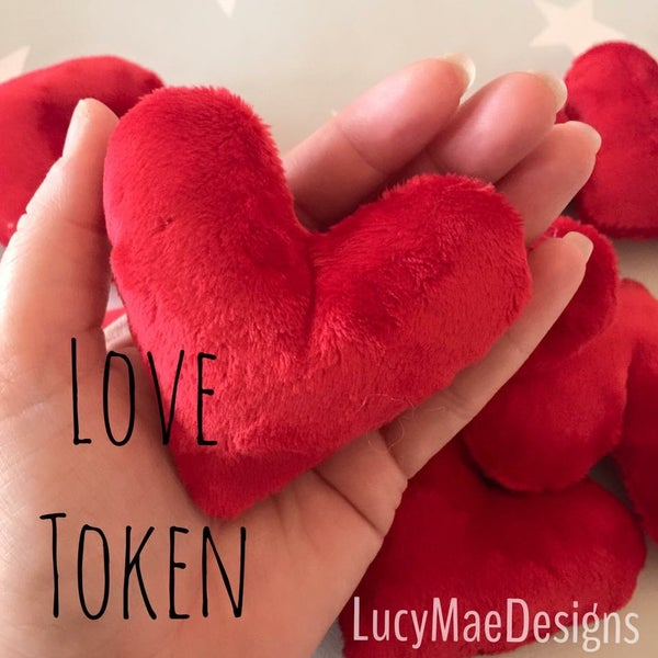 Image of Plush Heart Love Token