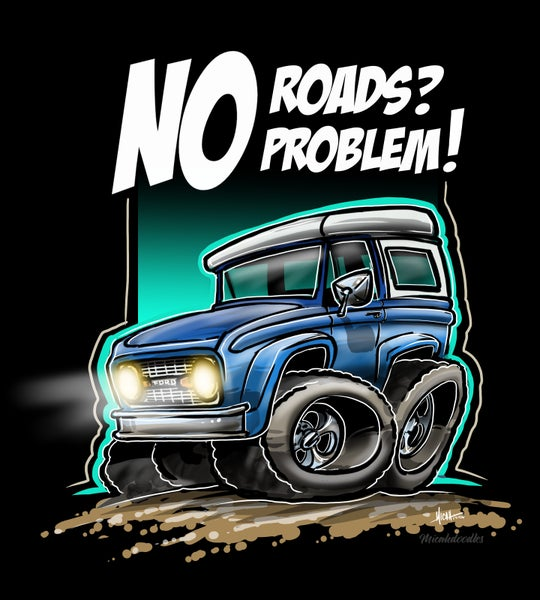 Image of No Roads No Problem Blue