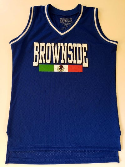 Image of BROWNSIDE LOGO GIRL'S MESH V-NECK JERSEY