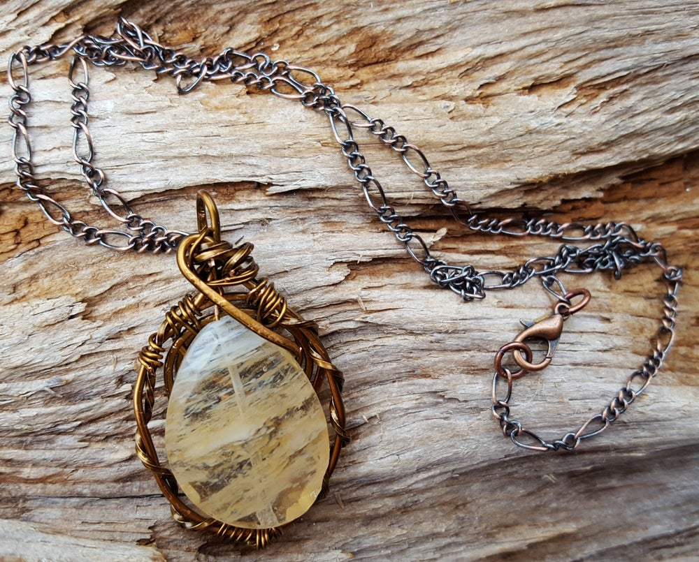 Image of  Golden Healer Quartz necklace