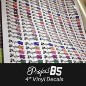 "Image of PROJECT:B5 - 4"" Vinyl Decals"
