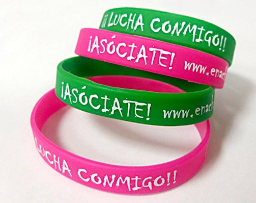 Image of Pack 10 Pulseras Solidarias Silicona