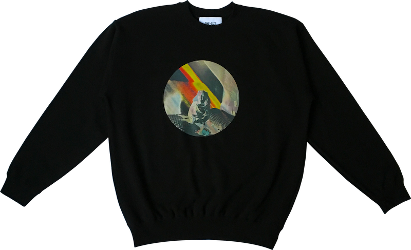Image of -50% — solarized photo crewneck