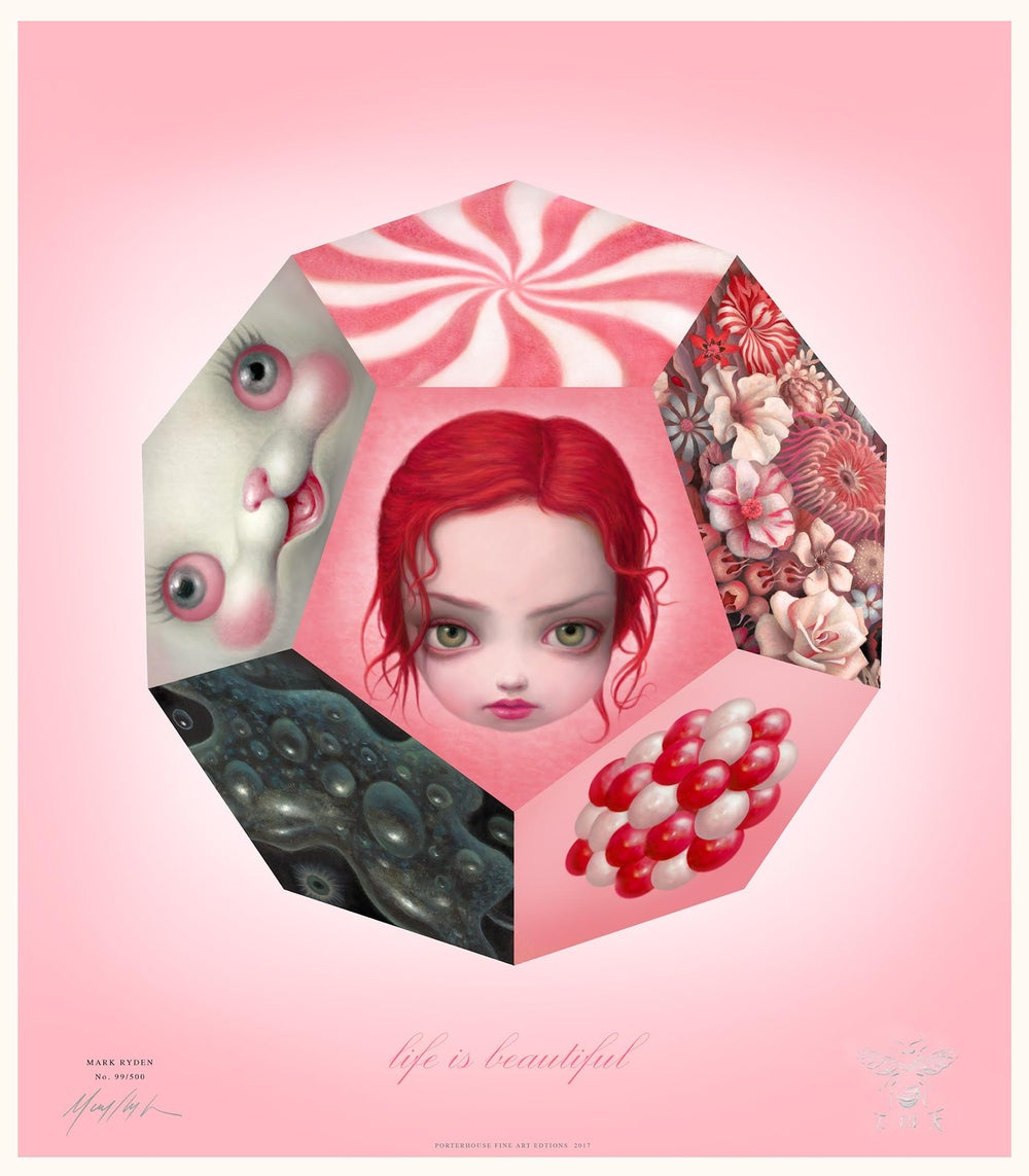 "Image of EXCLUSIVE <br>""Life Is Beautiful"" <br>Hand Signed & Numbered Lithograph <br>by Mark Ryden"
