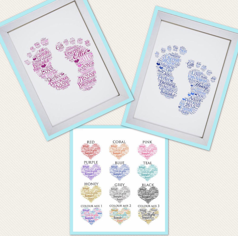 Image of Baby Feet Word Art