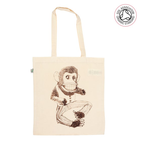 Image of Broken Monkey Tote Shopping Bag (Organic)