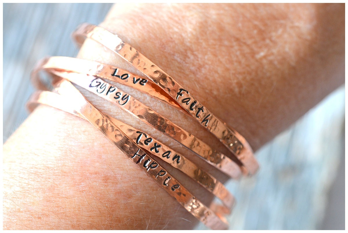 Personalized Copper Cuffs