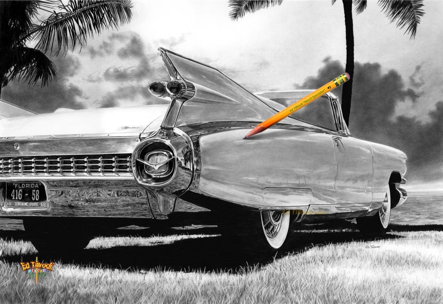 Image of '59 Caddy 11x17 Print