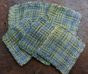 Image of Morning Sun, handwoven coasters