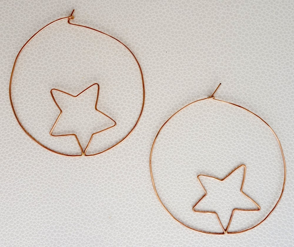 Image of Starlight Charm Hoops