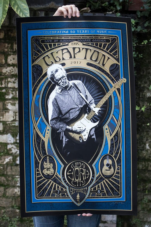 Image of NEW YORK Eric Clapton Madison Square Garden September 7th & 8th 2017 Silkscreen Poster