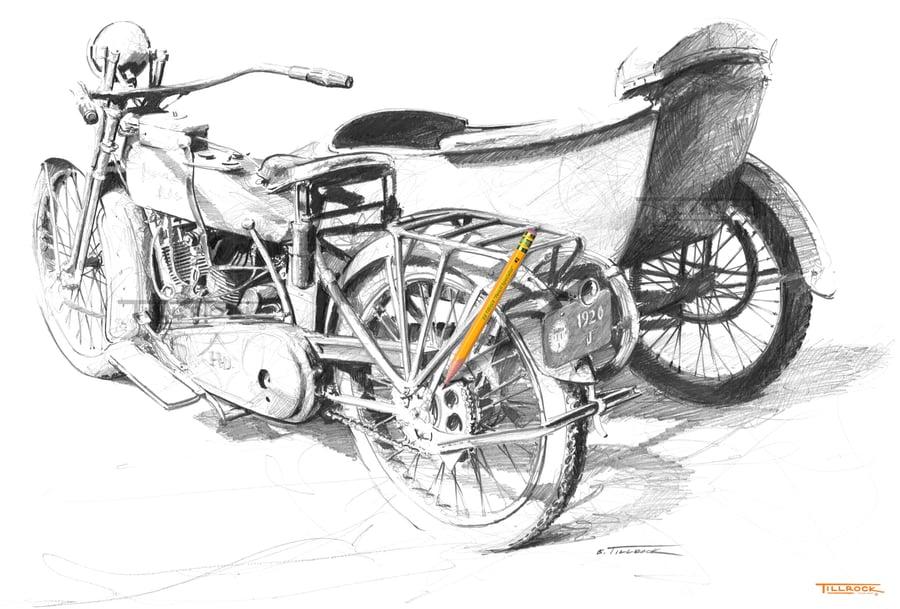 Image of 1920 J Sidecar 11x17 Print