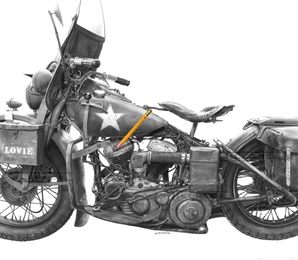 """Image of """"1942 WLA Type III""""  11X17 Print"""