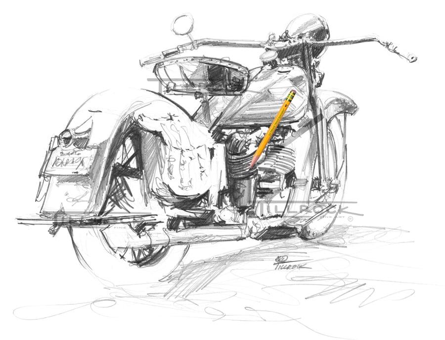 Image of '35 HD Sketch 11x17 Print