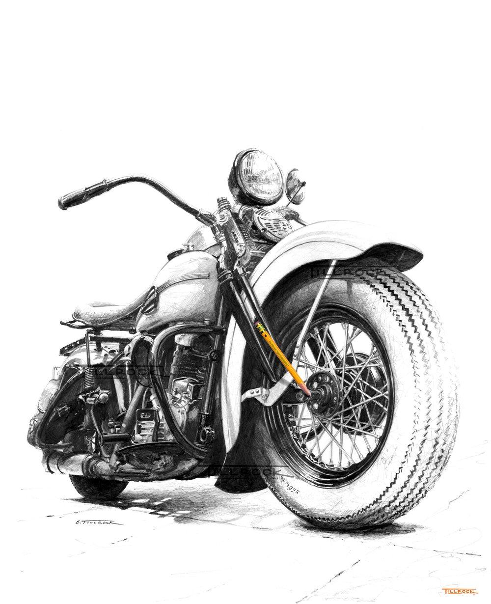 Image of '46 FL Knucklehead 11x17 Print