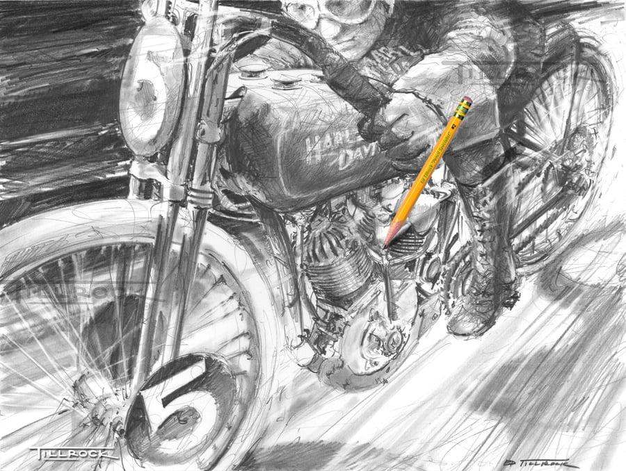 "Image of ""Mr Speedy"" 11x17 Print"