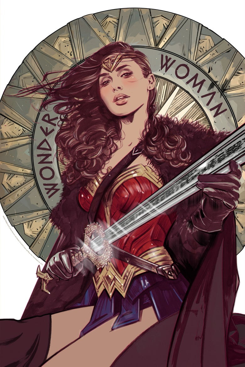 Image of WONDER WOMAN MONDO PRINT