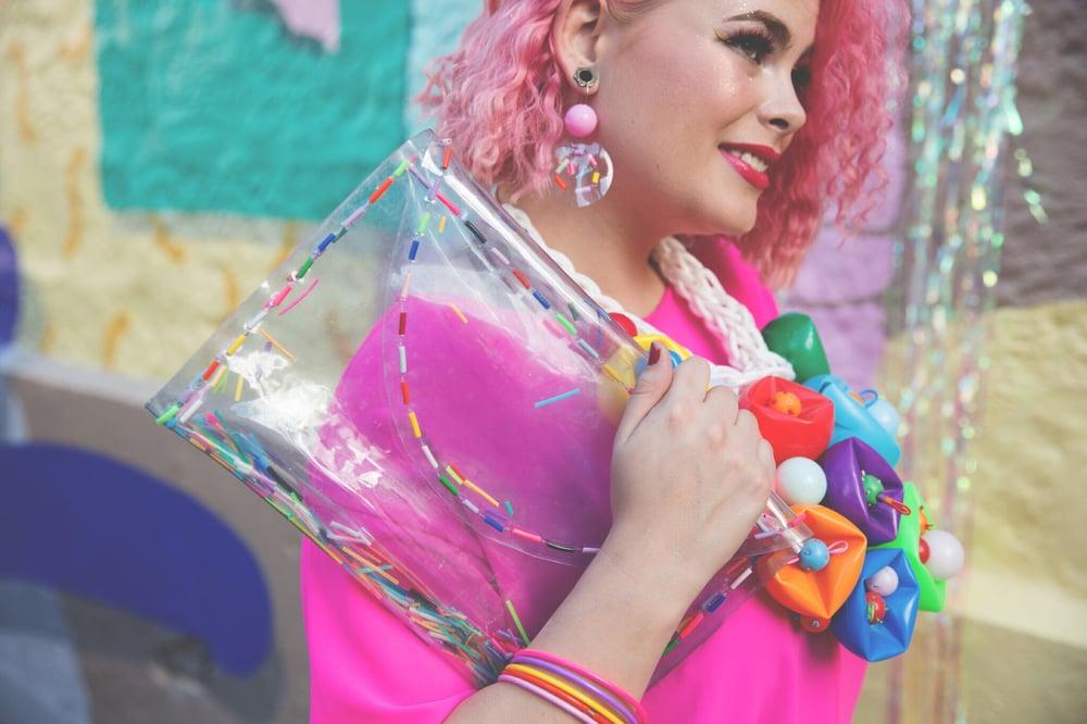 Image of bubble confetti earrings