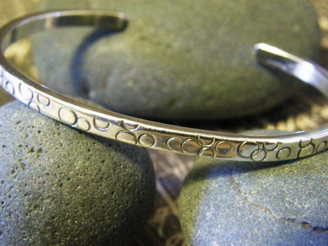 "Image of ""Breathe"" Sterling Bracelet"