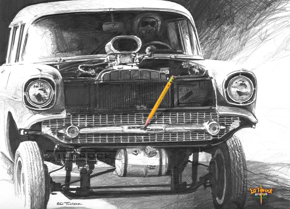 Image of '57 Gasser Signed and Numbered 20x24 Giclee' Print