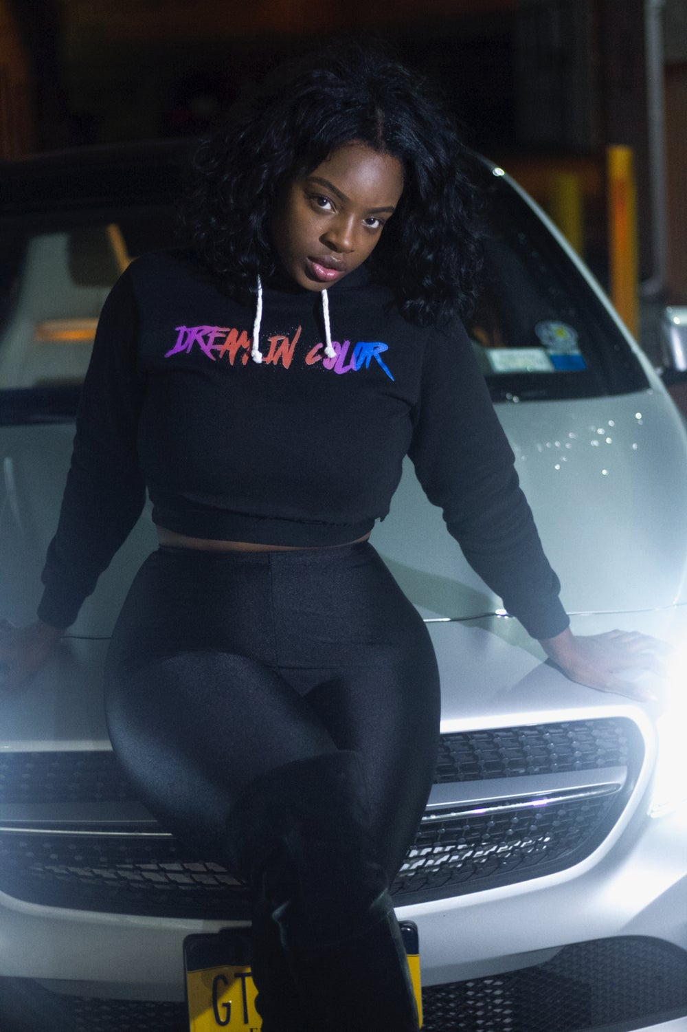 Image of Women's #DreamInColor Crop Top Hoodie