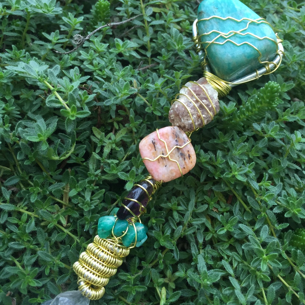 Image of Emotional Healing, Stress Relief, & Positive Transformation Crystal Wand