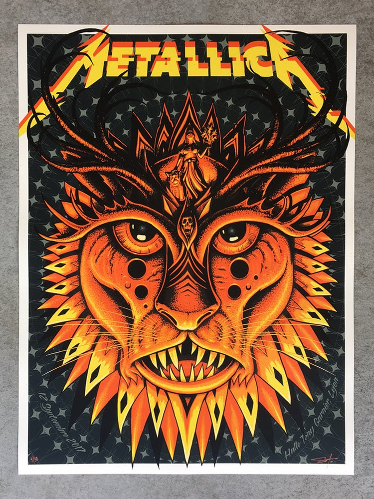 Image of Metallica Lyon Artist Edition Poster