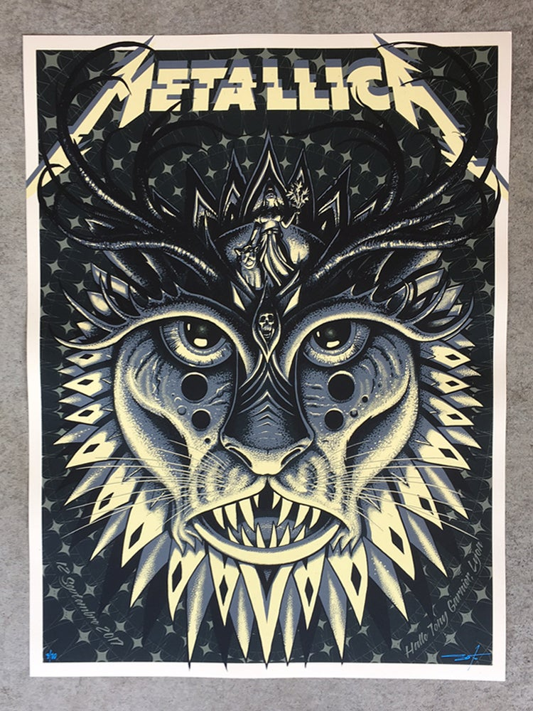 Image of Metallica Lyon Night Edition Poster