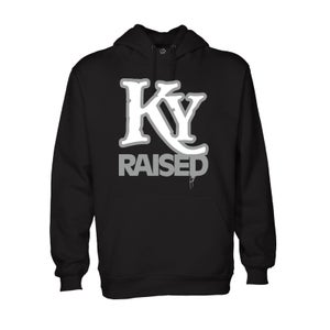 Image of KY Raised Hoodie in Black / White / Grey