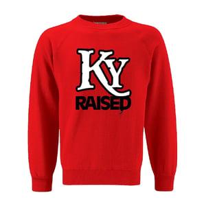 Image of KY Raised Crewneck Sweatshirt in Red / White / Black
