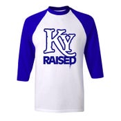 Image of KY Raised Baseball Tees in KY Blue & White