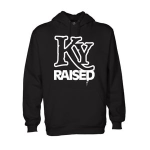 Image of KY Raised Hoodie in Black & White