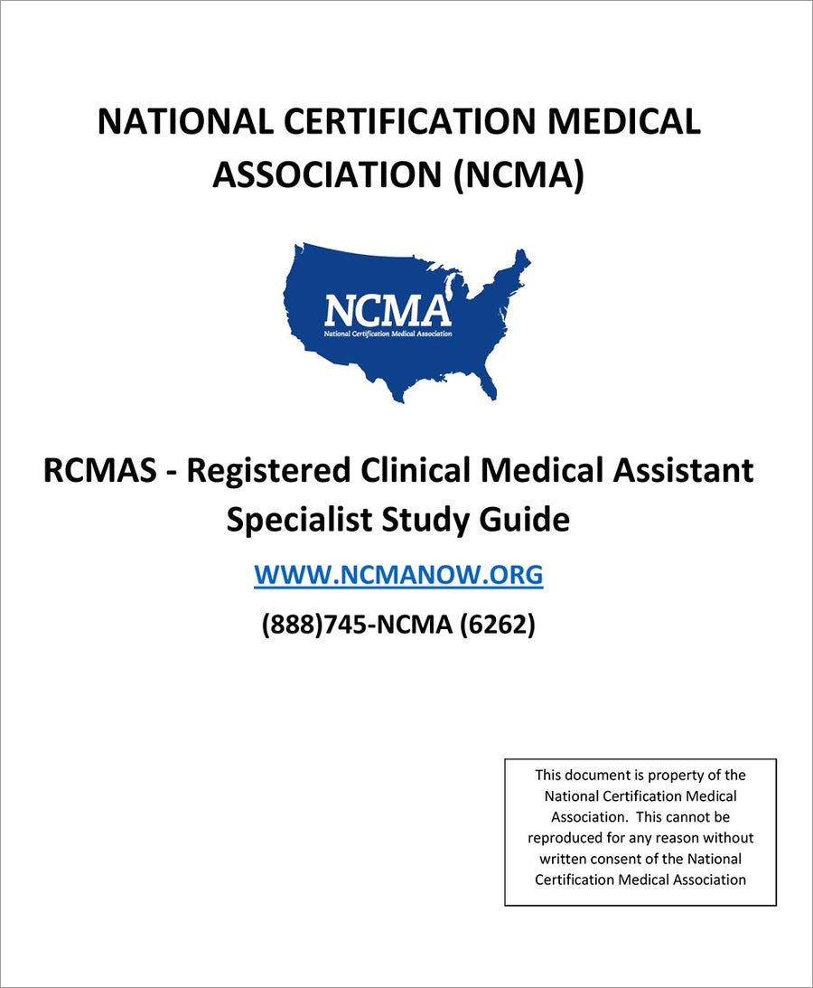 Image of RCMAS - Registered Clinical Medical Assistant Specialist