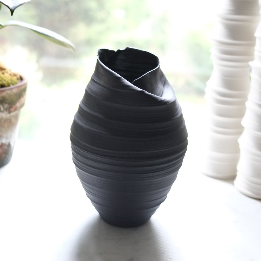 Image of Butterfly Vase, Black Velvet, #902