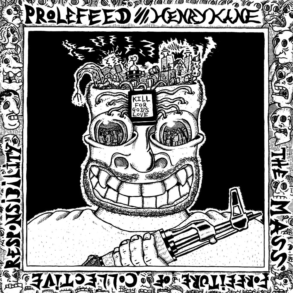 "Image of Prolefeed / Henry Kane split lp ""The Mass Forfeiture of Collective Responsibility"""