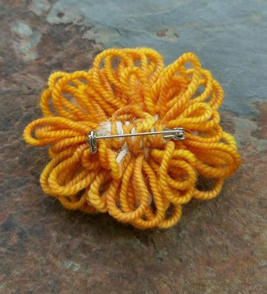 Image of Caramel Alpaca Pin, handmade