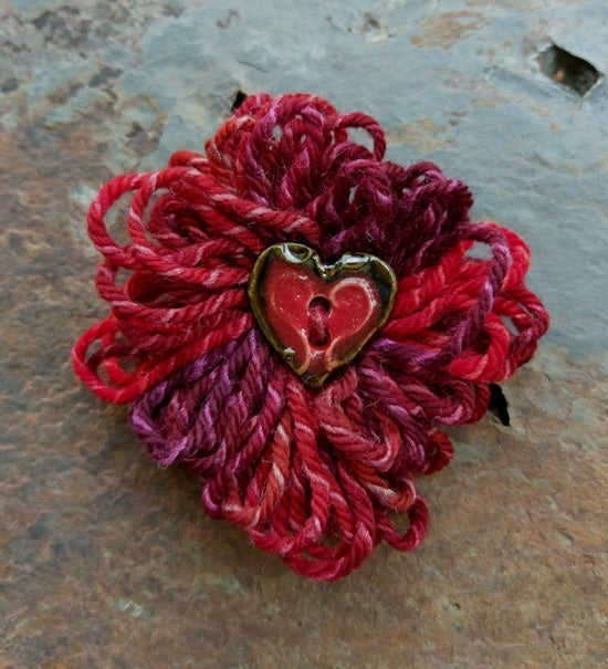 Image of Rosa Parks Heart pin, handmade