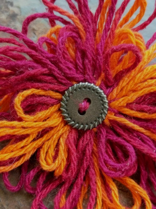 Image of Squires Rope Button Pin, handmade