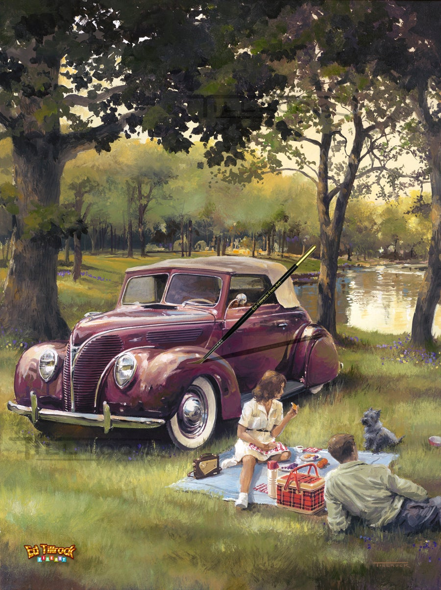 "Image of ""Picnic"" Signed and Numbered Color Giclee' Print"