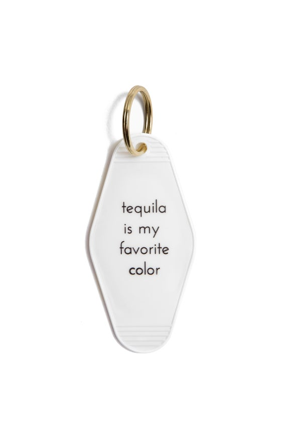 Image of tequila is my favorite color keytag