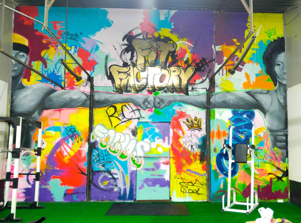 Ambishun Fitness Fit Factory Mural
