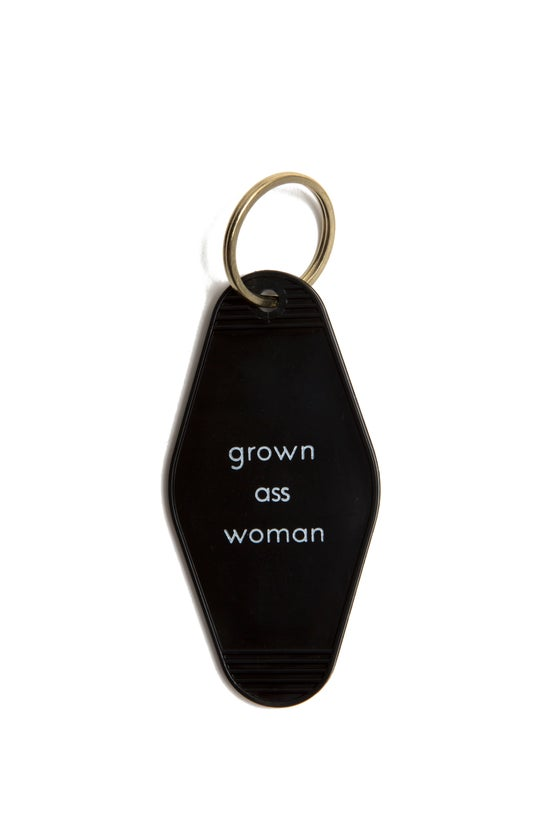 Image of grown ass woman keytag