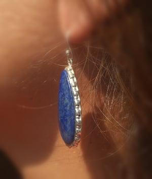 Image of Boucles d'oreille Lapis Lazuli - argent 925