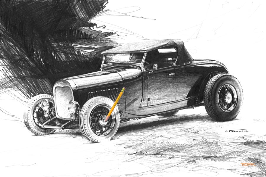 "Image of ""Scat Roadster"" Signed and Numbered 20x24 Giclee' Print"
