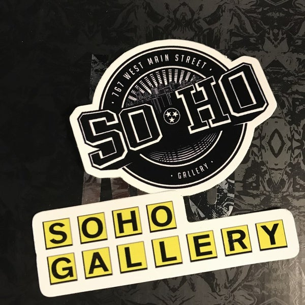 Image of SOHO GALLERY LOGO STICKER PACK