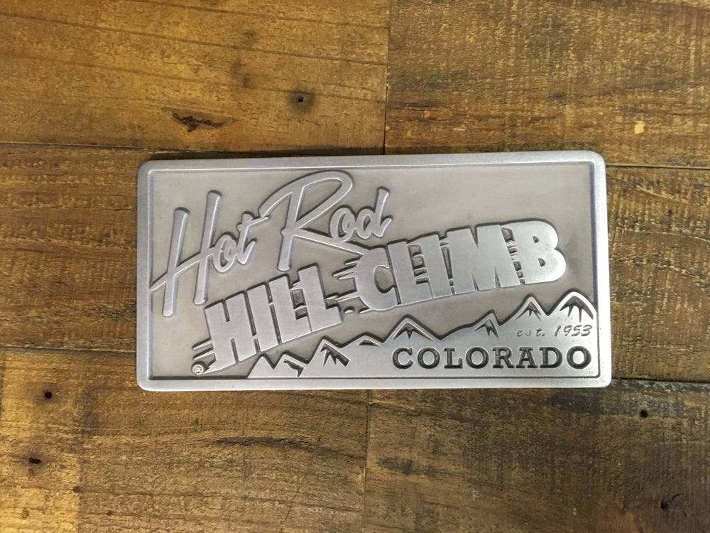 Image of Hot Rod Hill Climb Aluminum Plaque