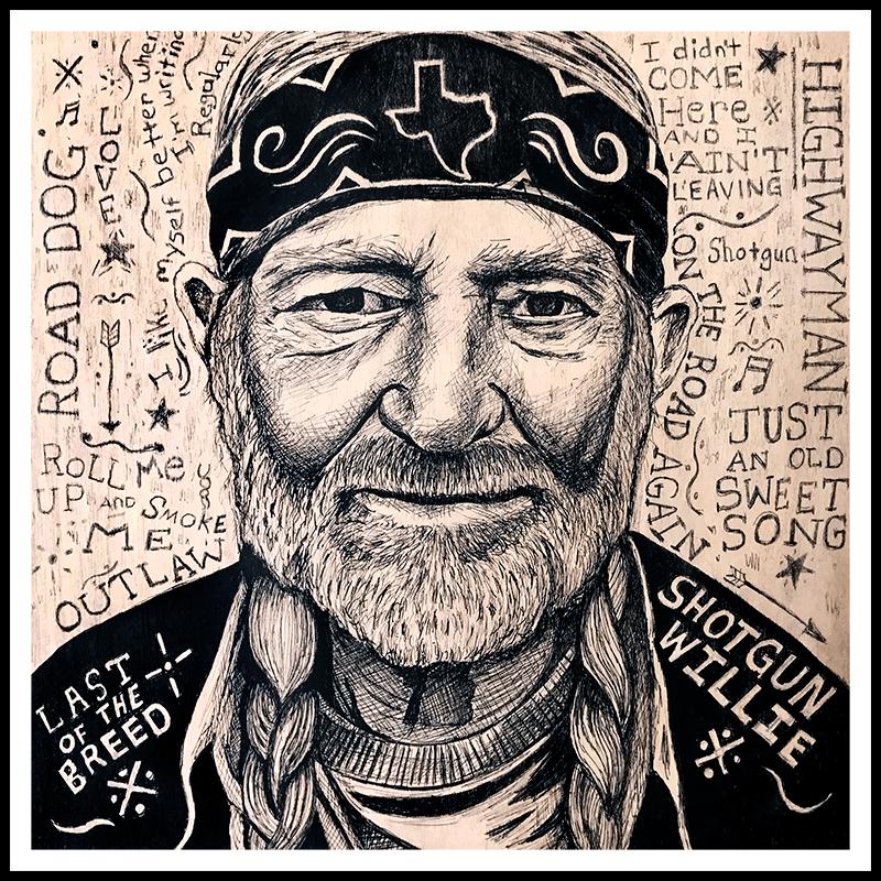 Image of Willie Nelson - Fine Art Print