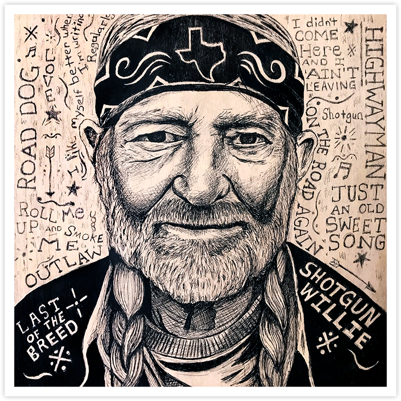 Image of Willie Nelson - Fine Art Print