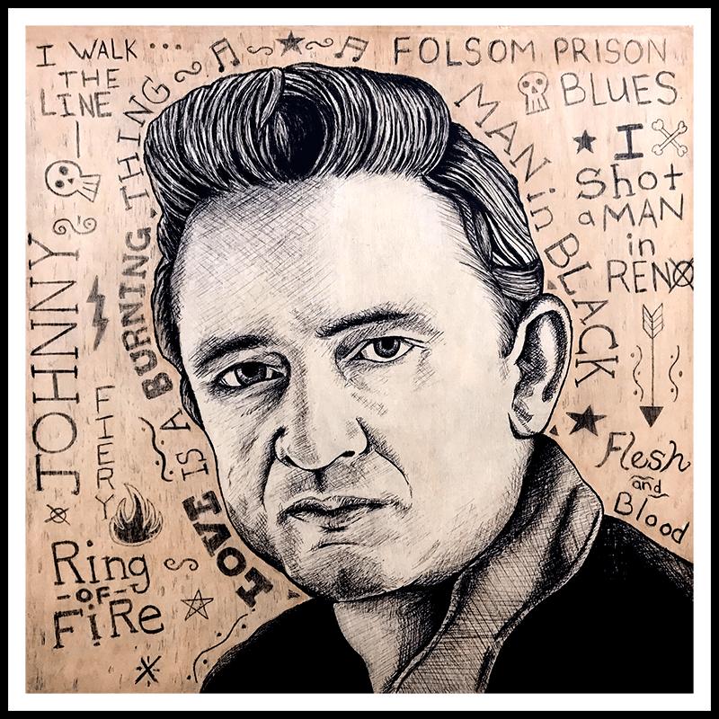Image of Johnny Cash - Fine Art Print
