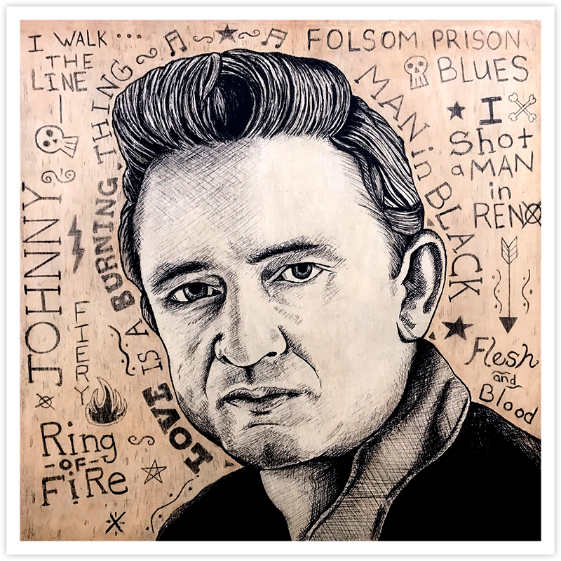 Image of Johnny Cash - Fine Art Print